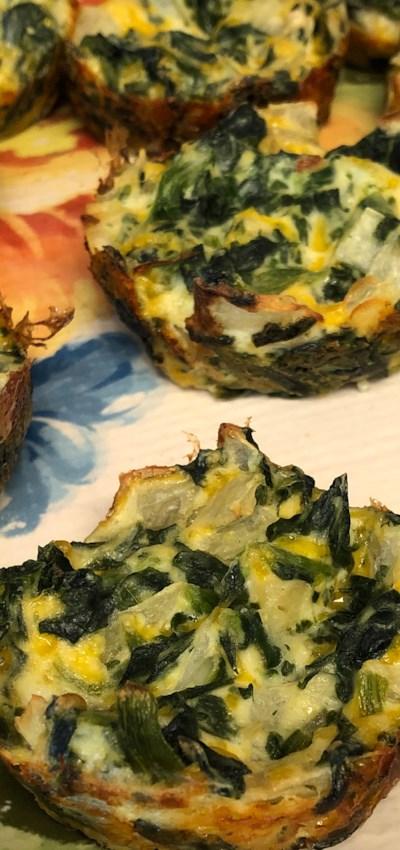Eggless Tofu Spinach Quiche