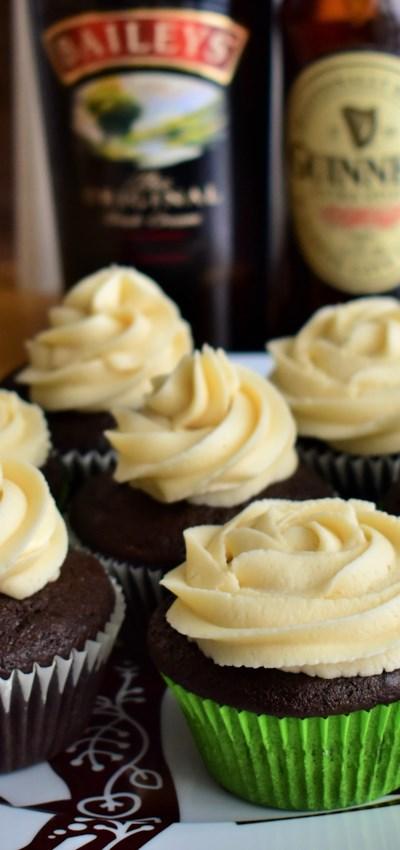 Irish Cocktail Cupcakes