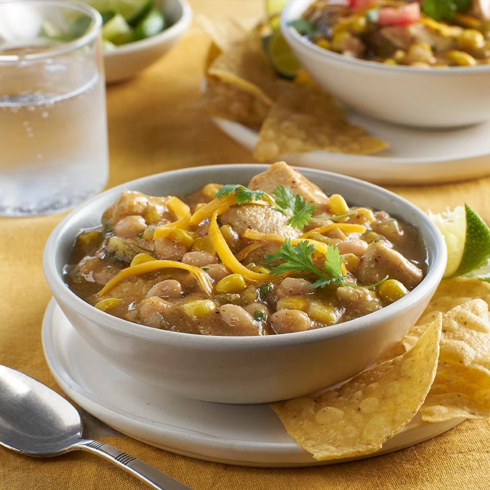 White Chili with Chicken & Corn College Inn® Broths and Stocks