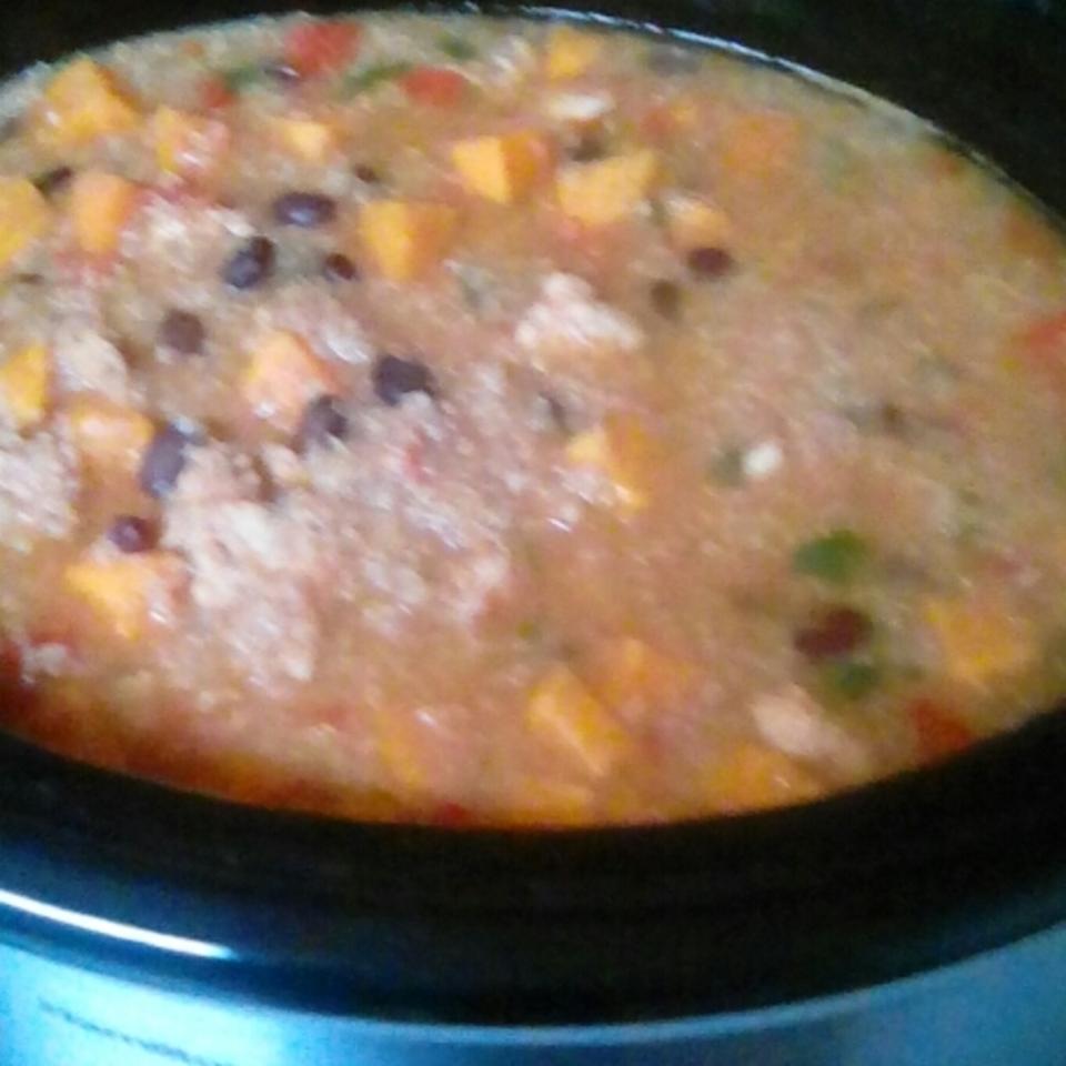 Slow Cooker Quinoa Sweet Potato Chicken