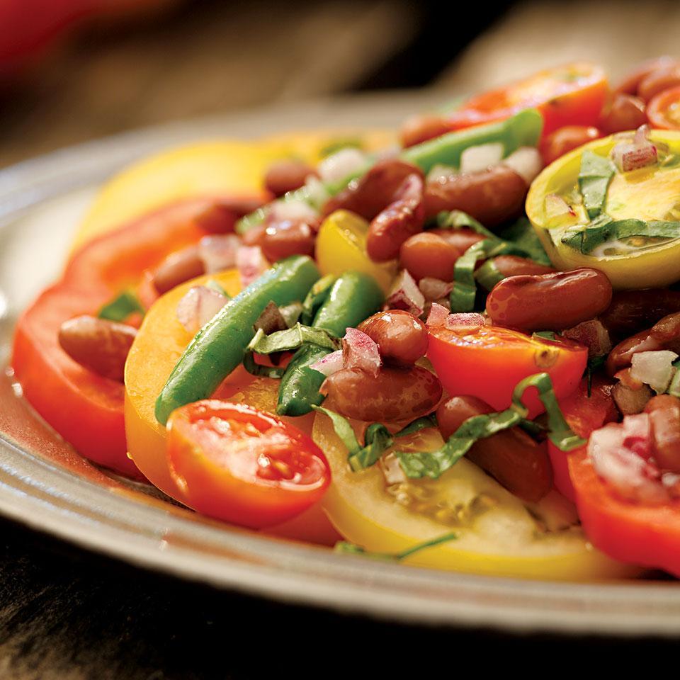 Bean & Tomato Salad with Honey Vinaigrette Molly Stevens
