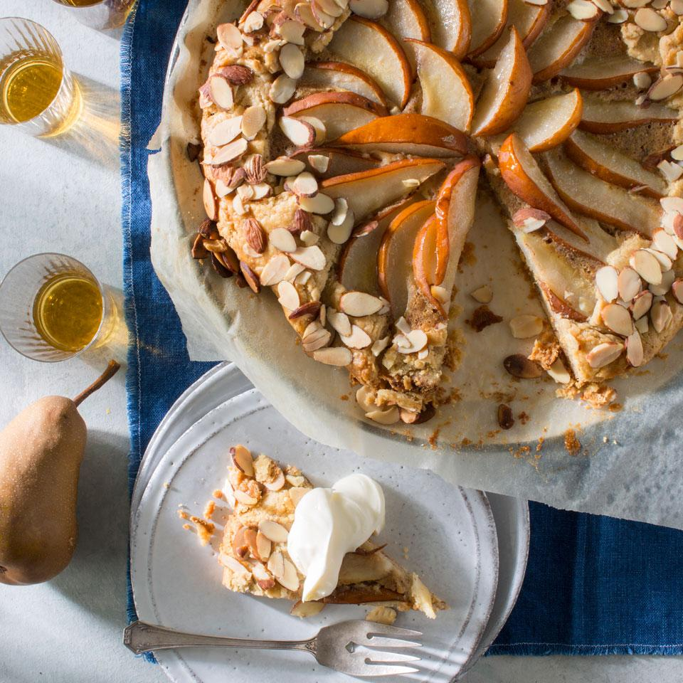 This flaky crostata recipe relies on fruit for its sweetness instead of a lot of added sugar, so be sure to use only ripe pears. If they're rock-hard, put them in a paper bag with an apple or banana on the kitchen counter for a few days.