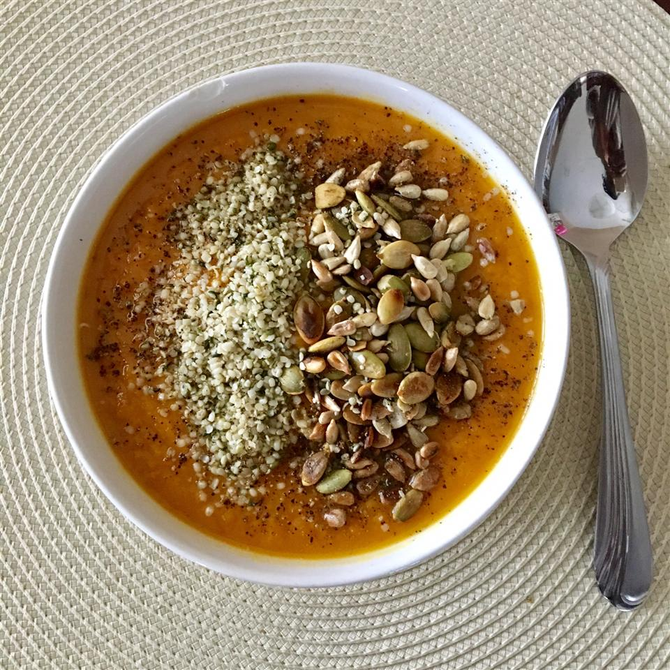 Sweet Potato and Carrot Soup with Cardamom j77