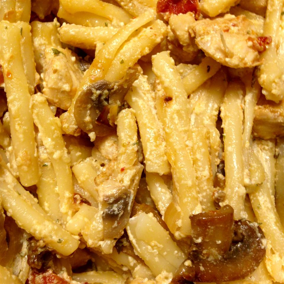 Chicken and Bowtie Pasta with Asiago Cream Sauce Diana