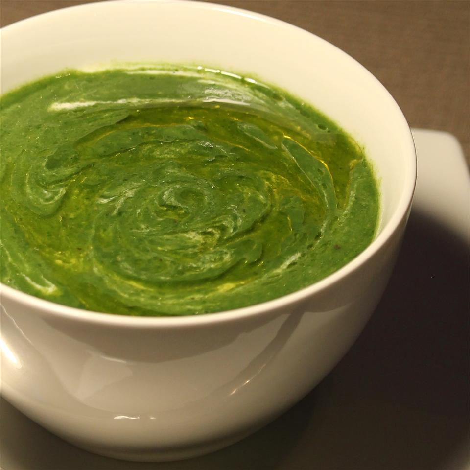 Curried Potato and Spinach Soup