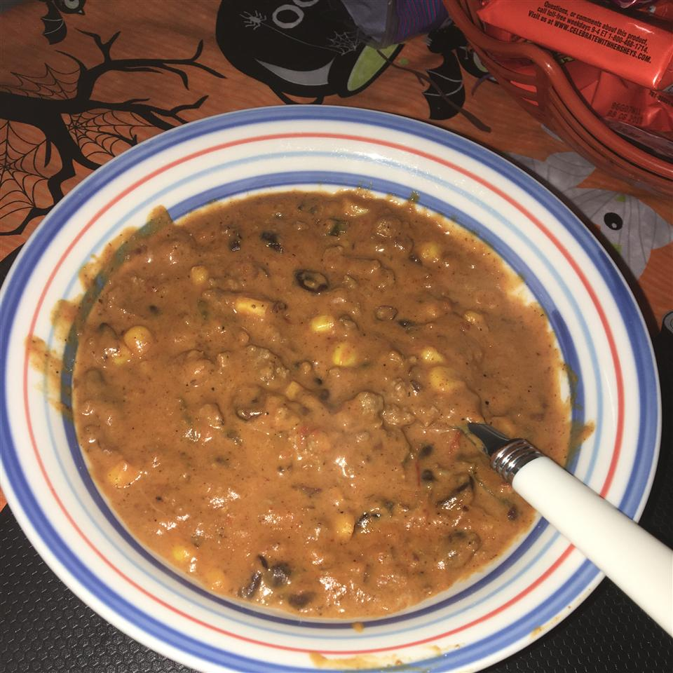 Cheesy Black Bean and Corn Chili