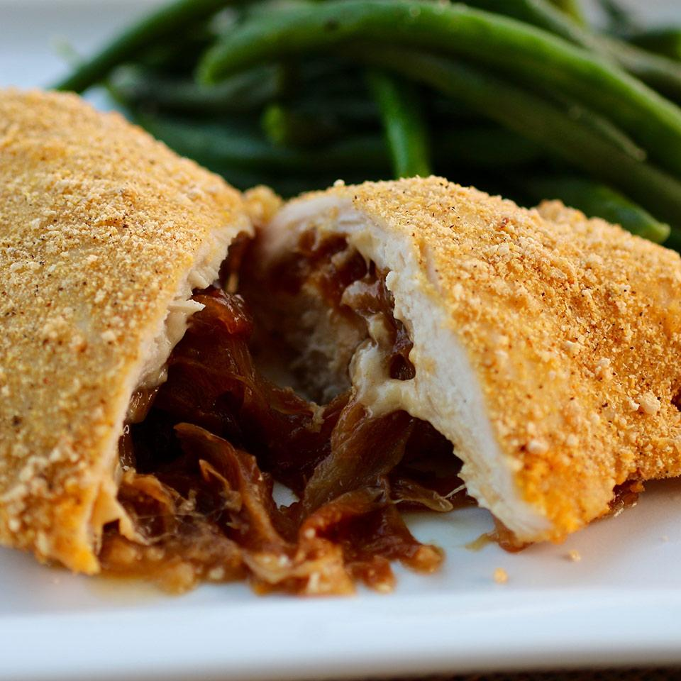 Caramelized Onion and Gouda Stuffed Chicken CountryGirlGourmet