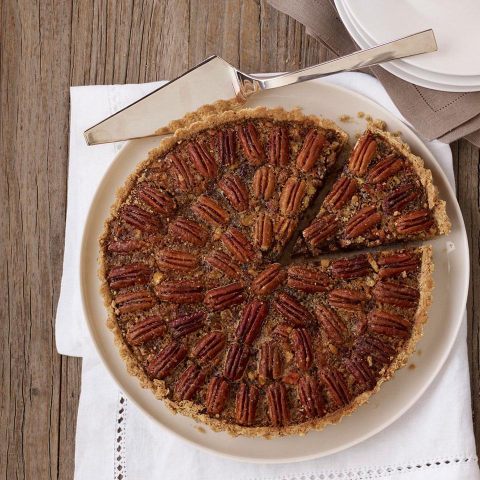 Maple Pecan Tart with Dried Cherries Katie Webster