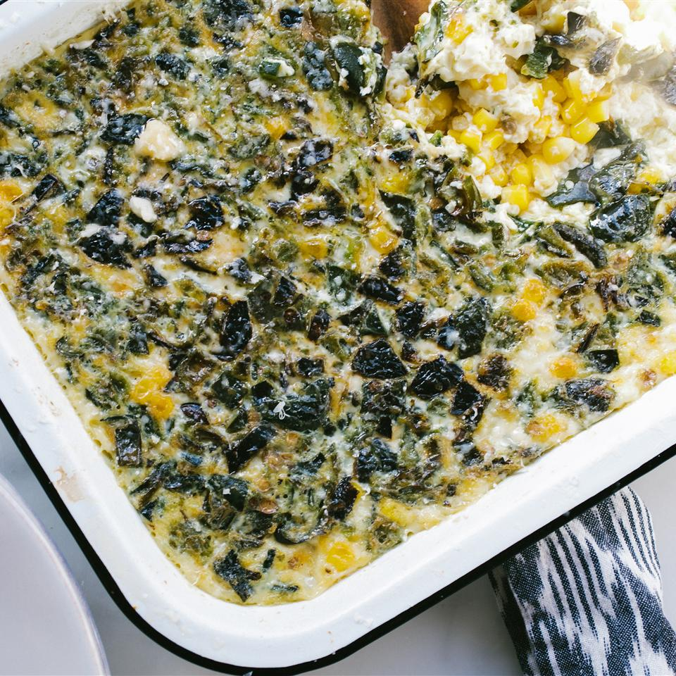 Smoky Poblano Corn Pudding