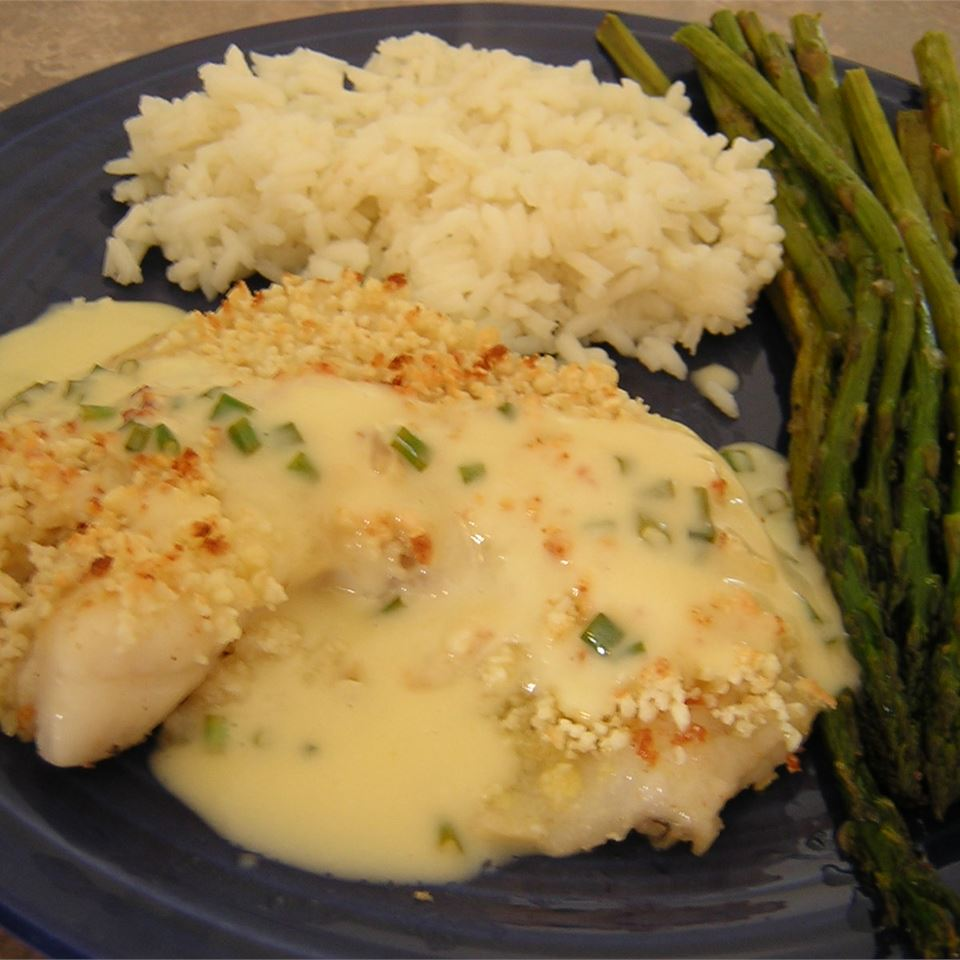 Almond-Crusted Halibut Crystal Symphony Emily