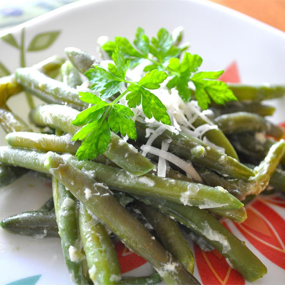 Creamy Green Beans Parmesan_image