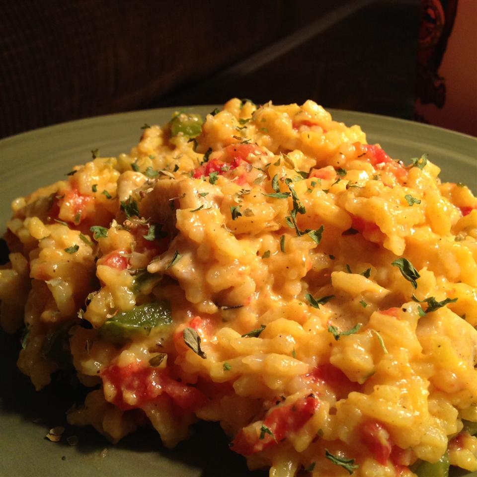 Cheesy Chicken and Yellow Rice Goya