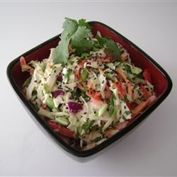 Asian Coleslaw with Ponzu Dressing