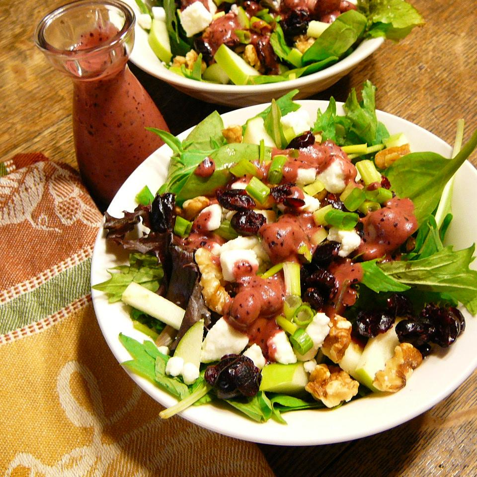 Green Apple Salad With Blueberries, Feta, And Walnuts image