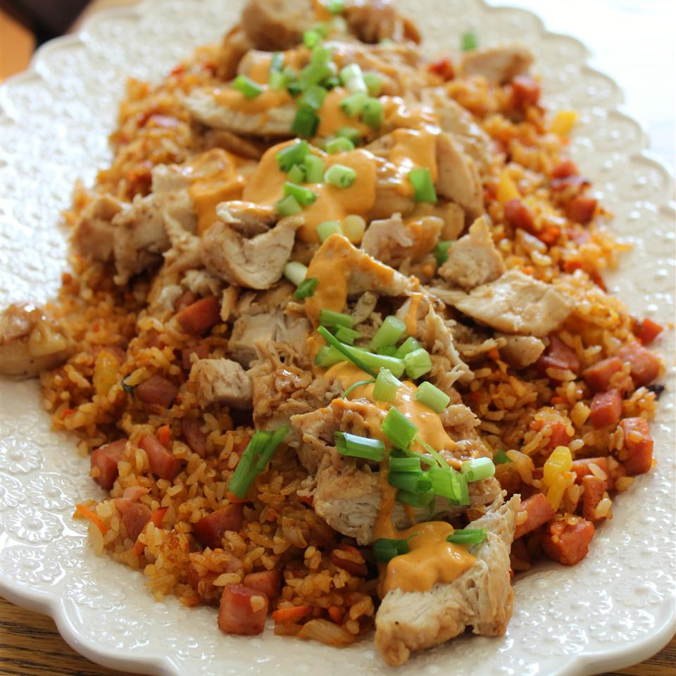 Troy's Korean Glazed Chicken Breast with Kimchee Fried Rice Diana71