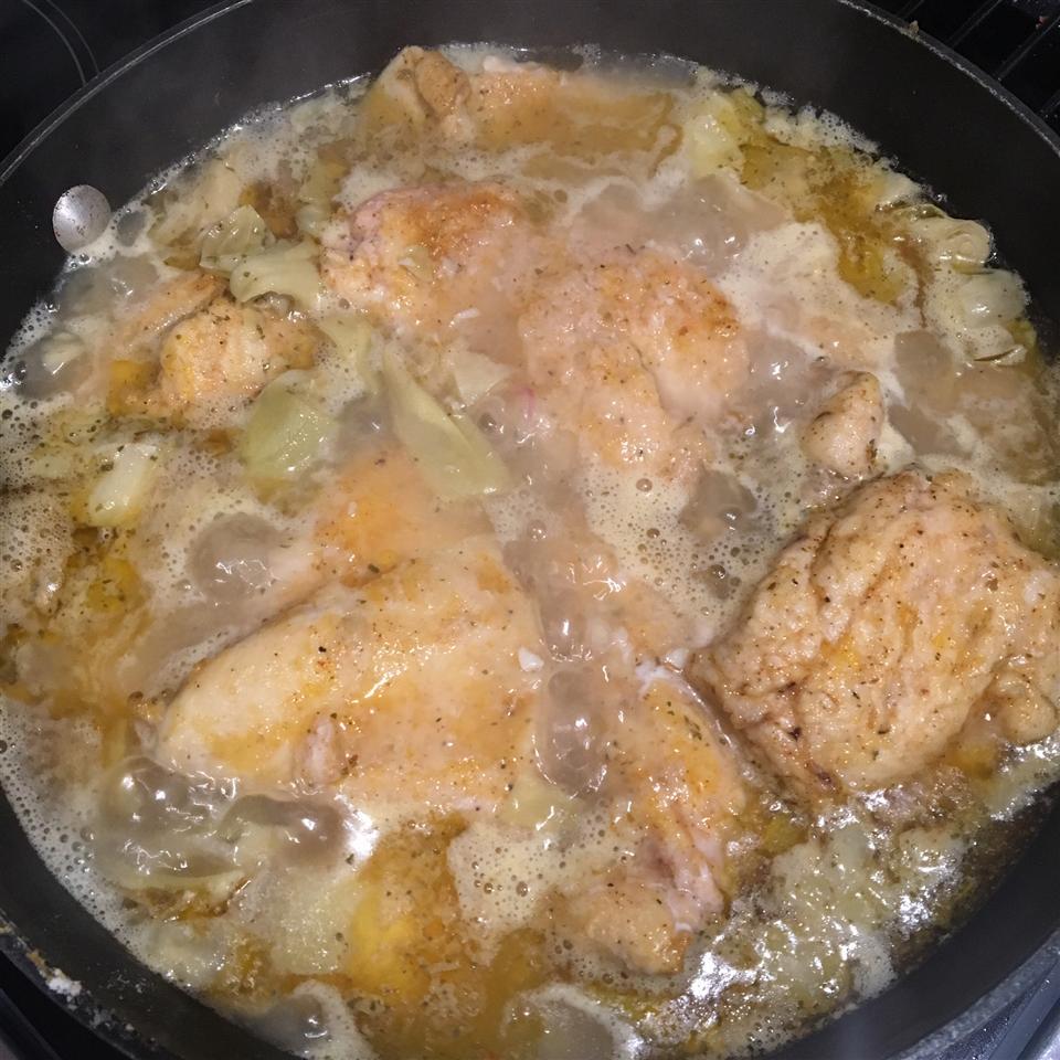 Chicken Piccata with Artichoke Hearts Sheena Rachelle
