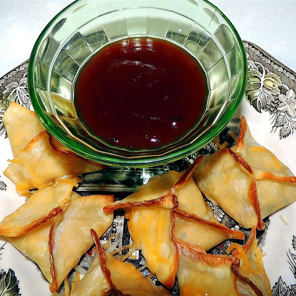 Baked Jalapeno Chicken and Cheese Wontons