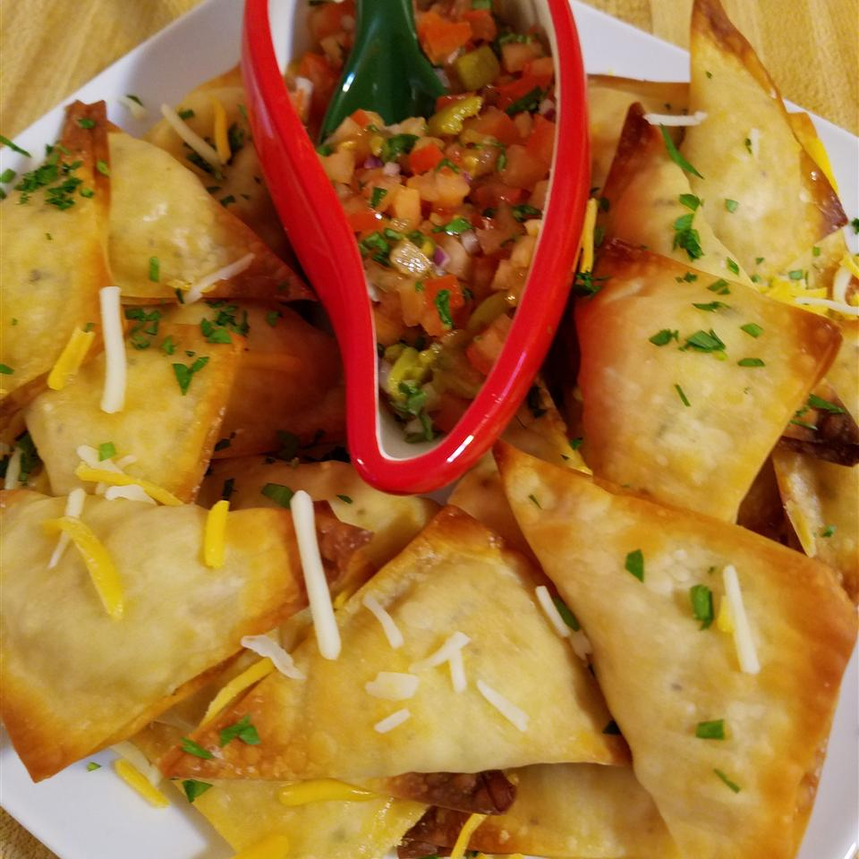 Baked Jalapeno Chicken and Cheese Wontons Noah Weisberg Sr