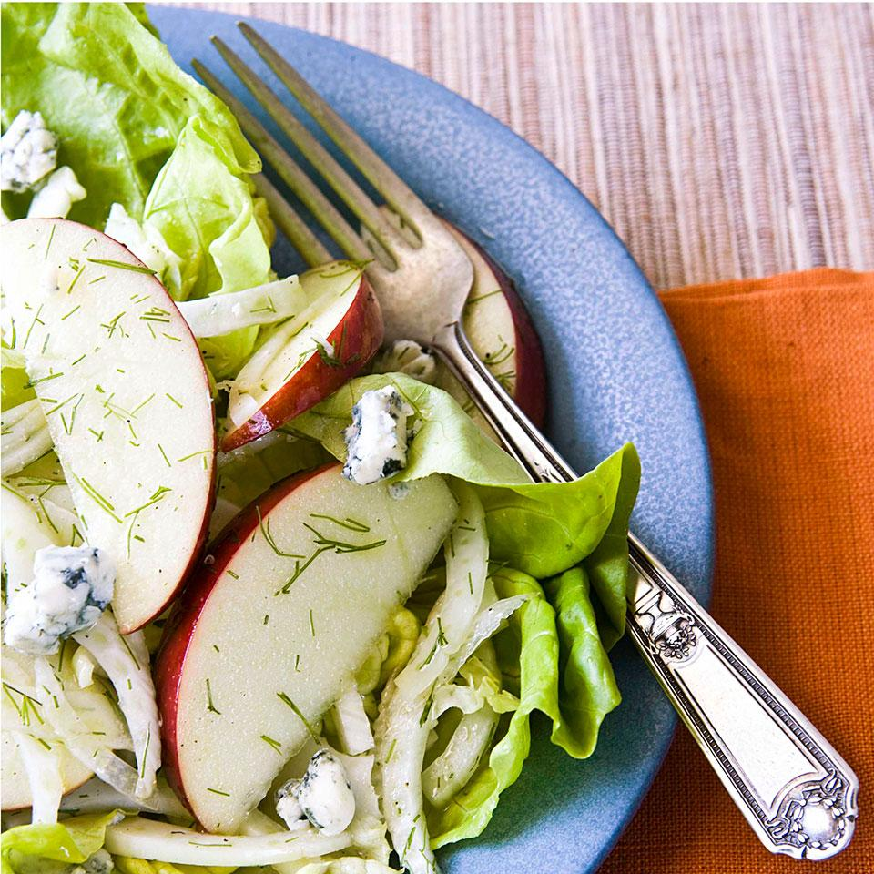 Apple & Fennel Salad with Blue Cheese EatingWell Test Kitchen