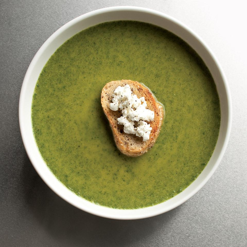 Spinach & Goat Cheese Bisque Anna Thomas