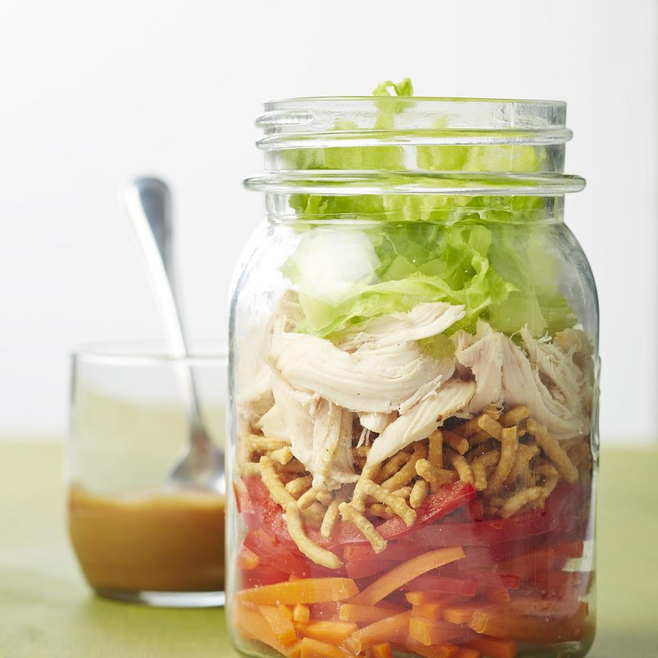 Asian Chicken Salad in a Jar
