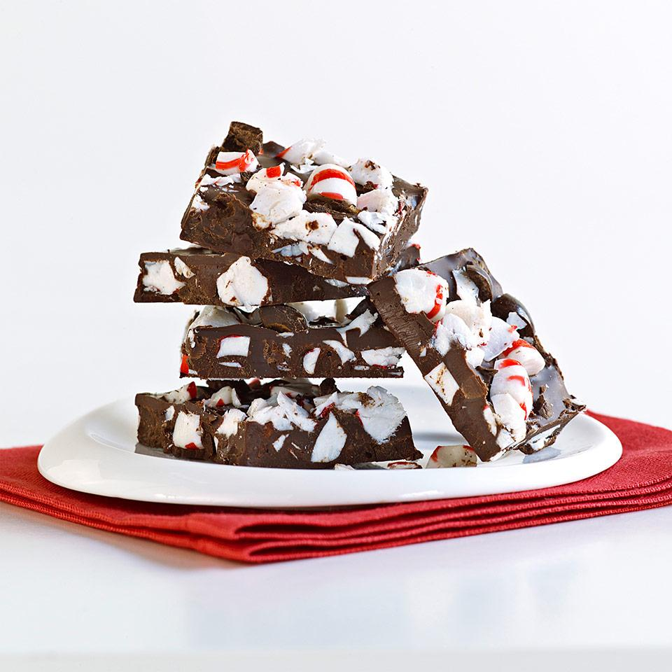 "<p title=""With just a few simple steps, you can transform plain chocolate into a divine treat with this chocolate bark recipe. We stir chopped peppermint candies and chocolate-covered espresso beans into this chocolate bark, which is perfect for a gift."">With just a few simple steps, you can transform plain chocolate into a divine treat with this chocolate bark recipe. We stir chopped peppermint candies and chocolate-covered espresso beans into this chocolate bark, which is perfect for a gift."