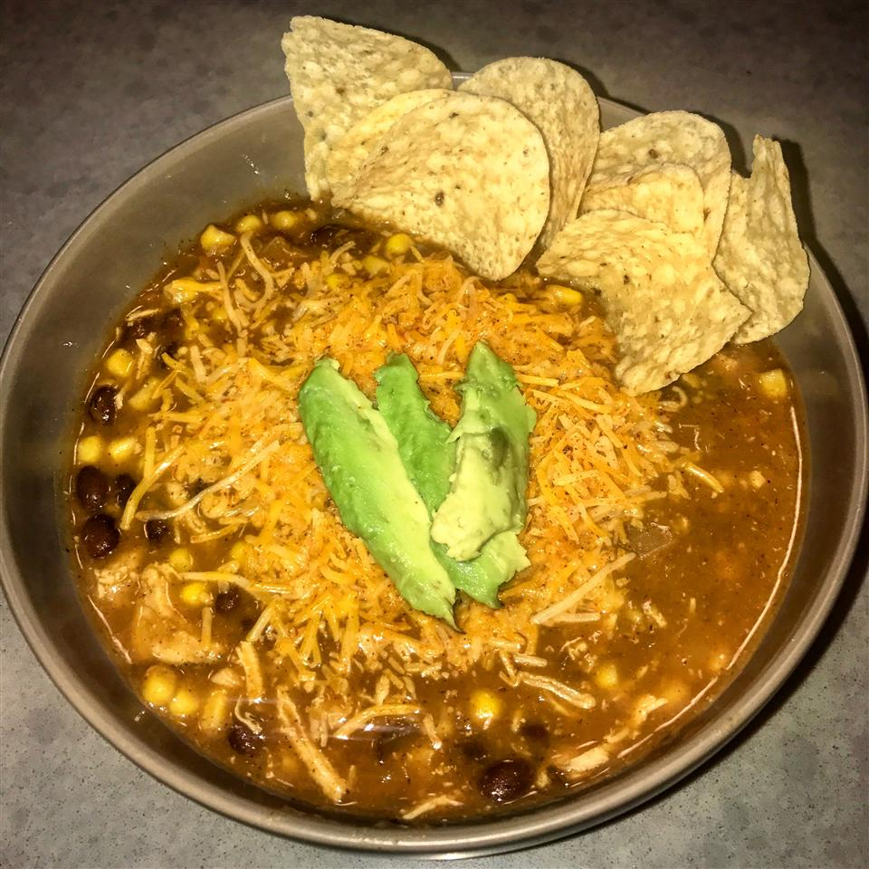 Chicken Tortilla Soup in the Slow Cooker Nicole Muscari