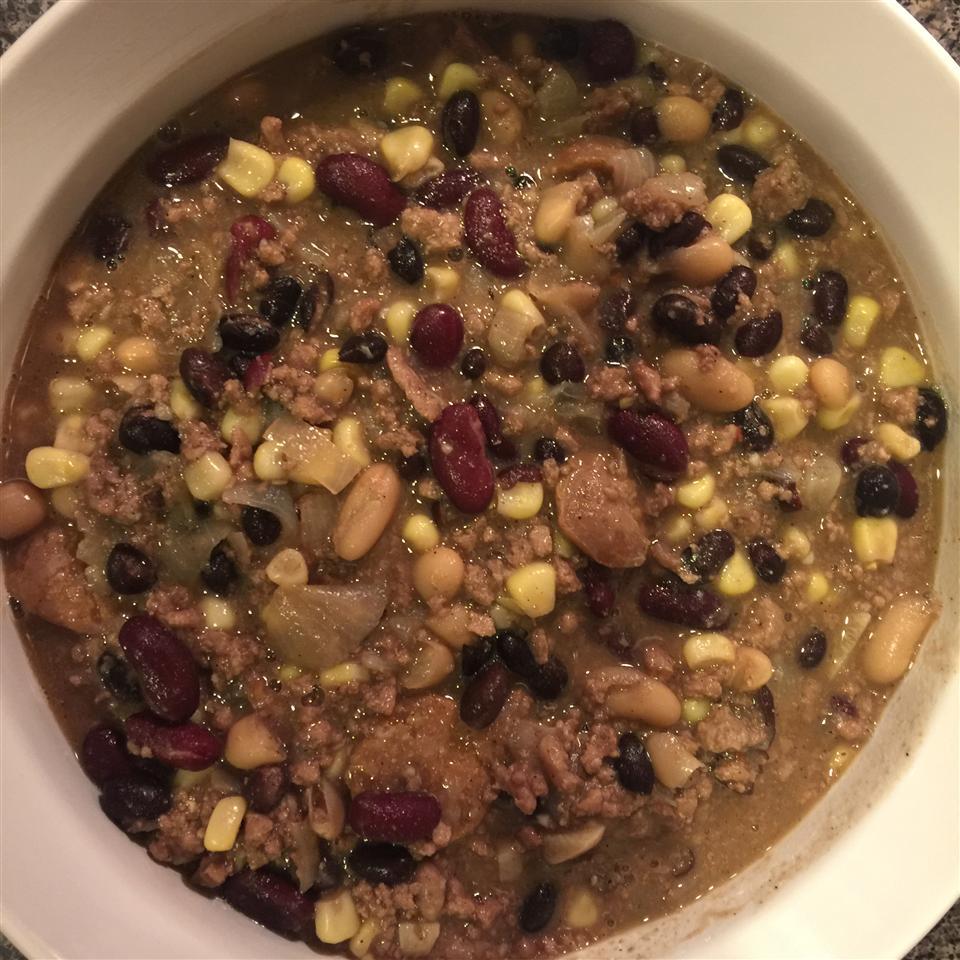 White Bean, Turkey, and Sausage Chili