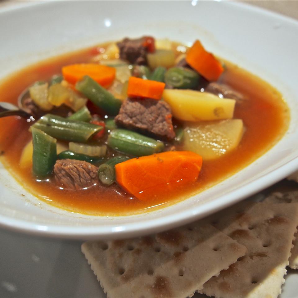 Dutch Oven Vegetable Beef Soup