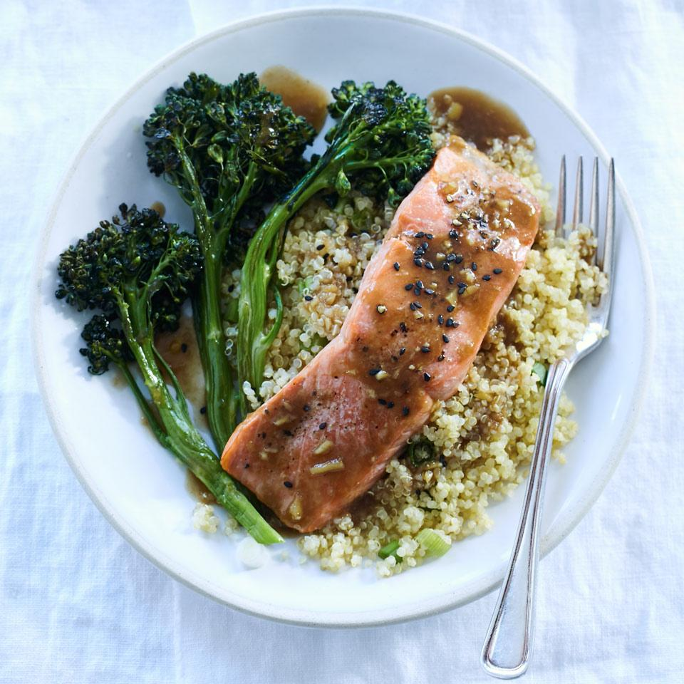 Orange-Sesame Salmon with Quinoa & Broccolini Karen Ansel, M.S., R.D.N.