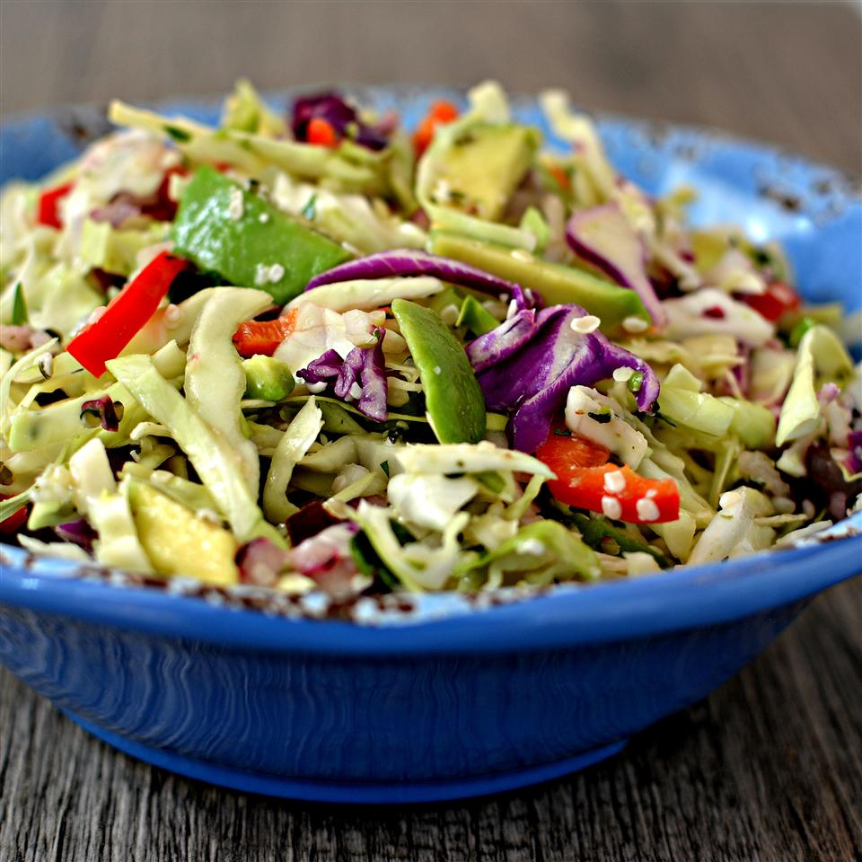 Lemony Cabbage-Avocado Slaw
