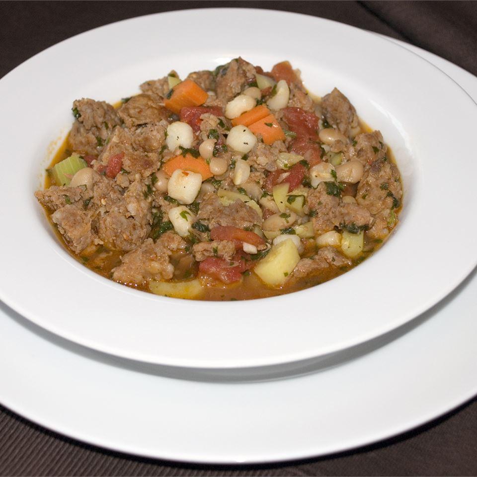 Spicy Sausage Soup with Cilantro