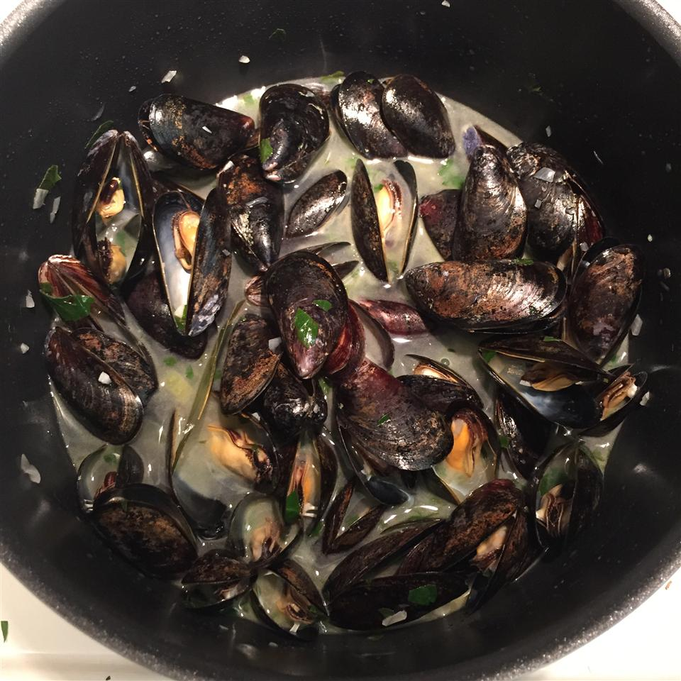Mussels Mariniere with Linguine chippy77