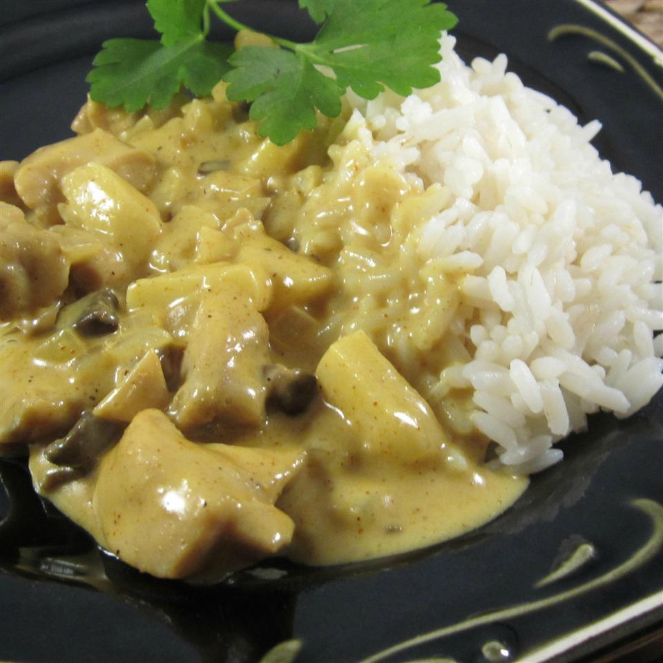 Curried Microwaved Chicken Lucille Cole
