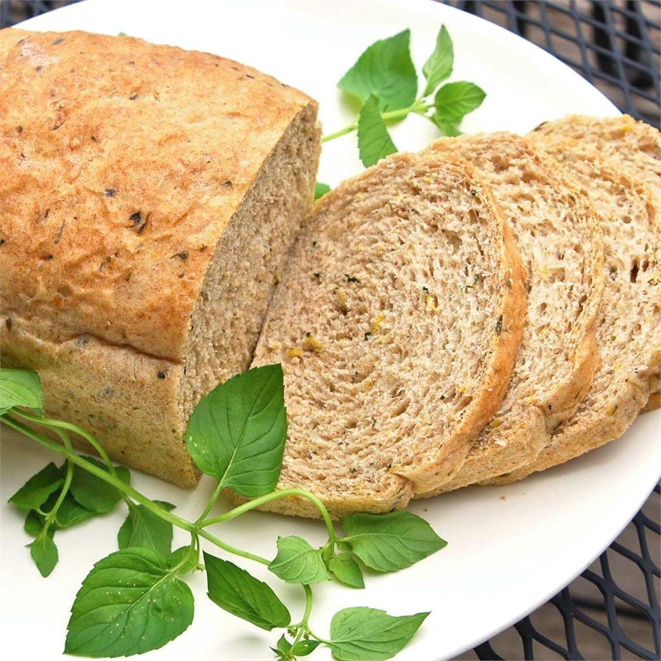 Whole Wheat Zucchini Herb Bread