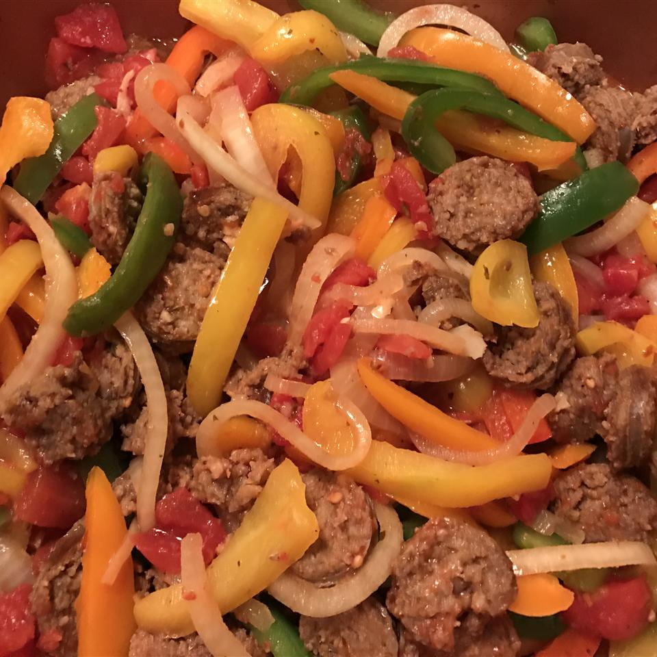 Johnsonville Italian Sausage Onions Peppers Skillet Allrecipes