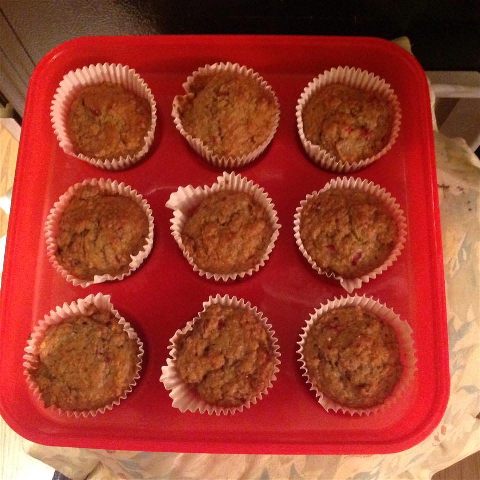 Banana Cranberry Nut Muffins
