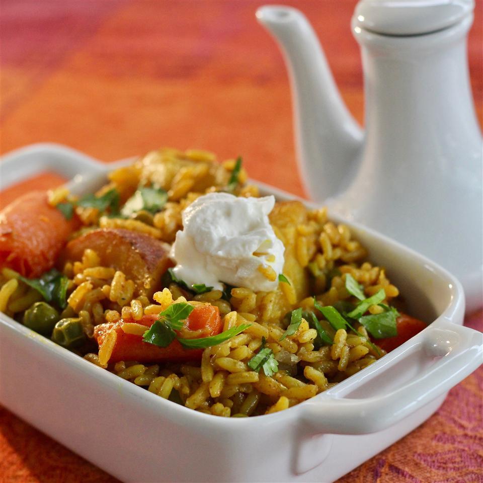 Vegetable Biryani (Tehri)