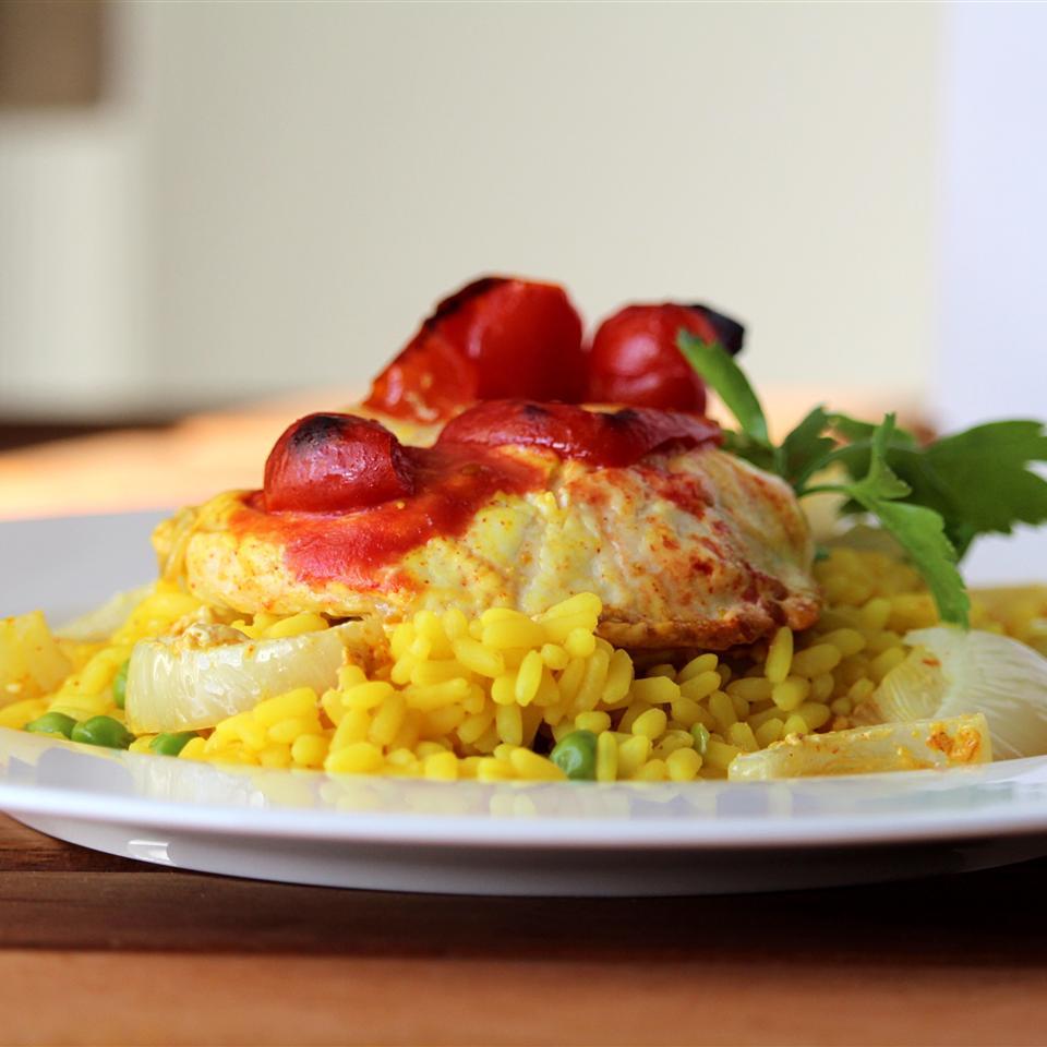 Biryani with Yogurt Marinated Chicken