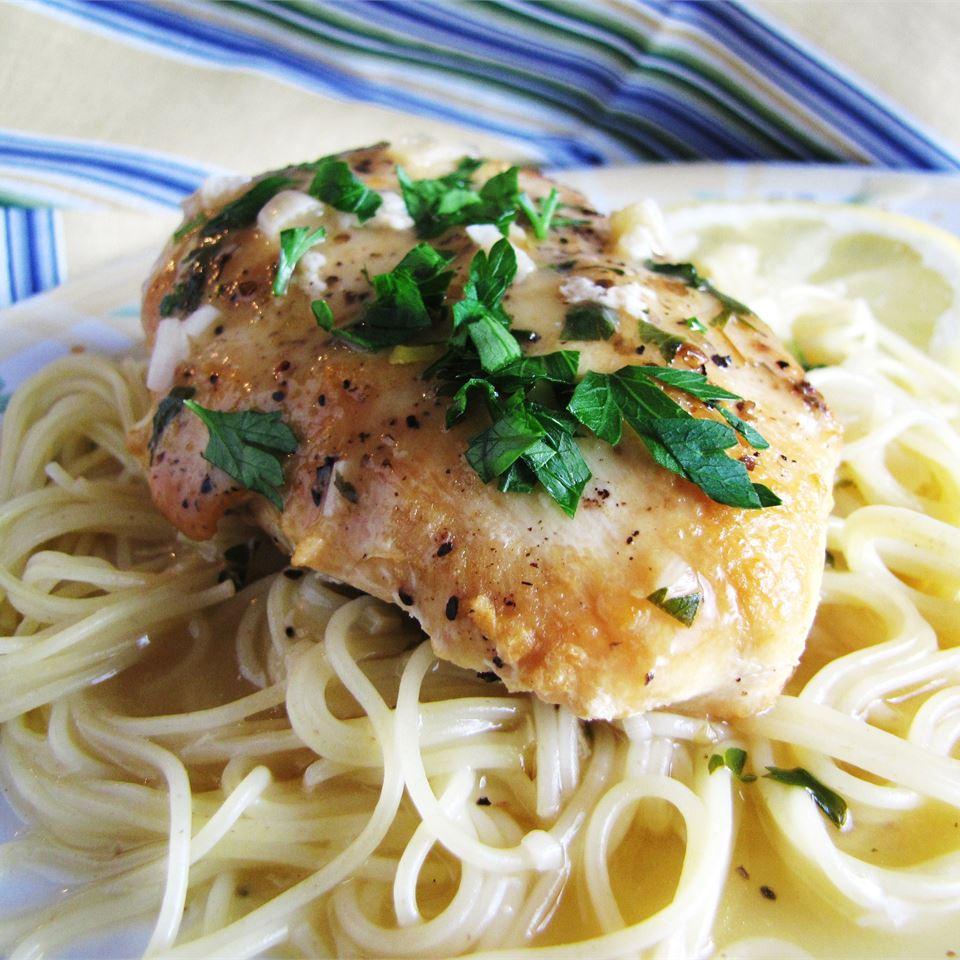 Slow Cooker Lemon Garlic Chicken II Carla Joy