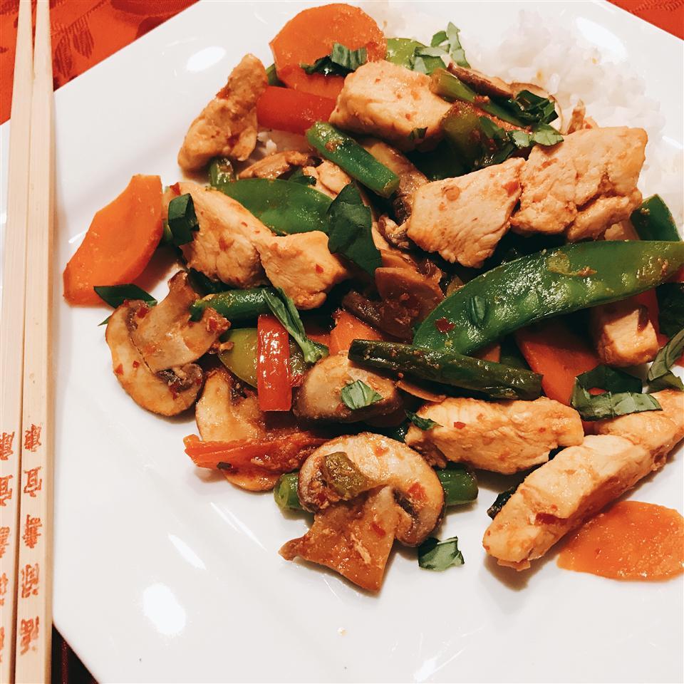 NP's Spicy Thai Basil Chicken and Veggies Yummy2Tummy