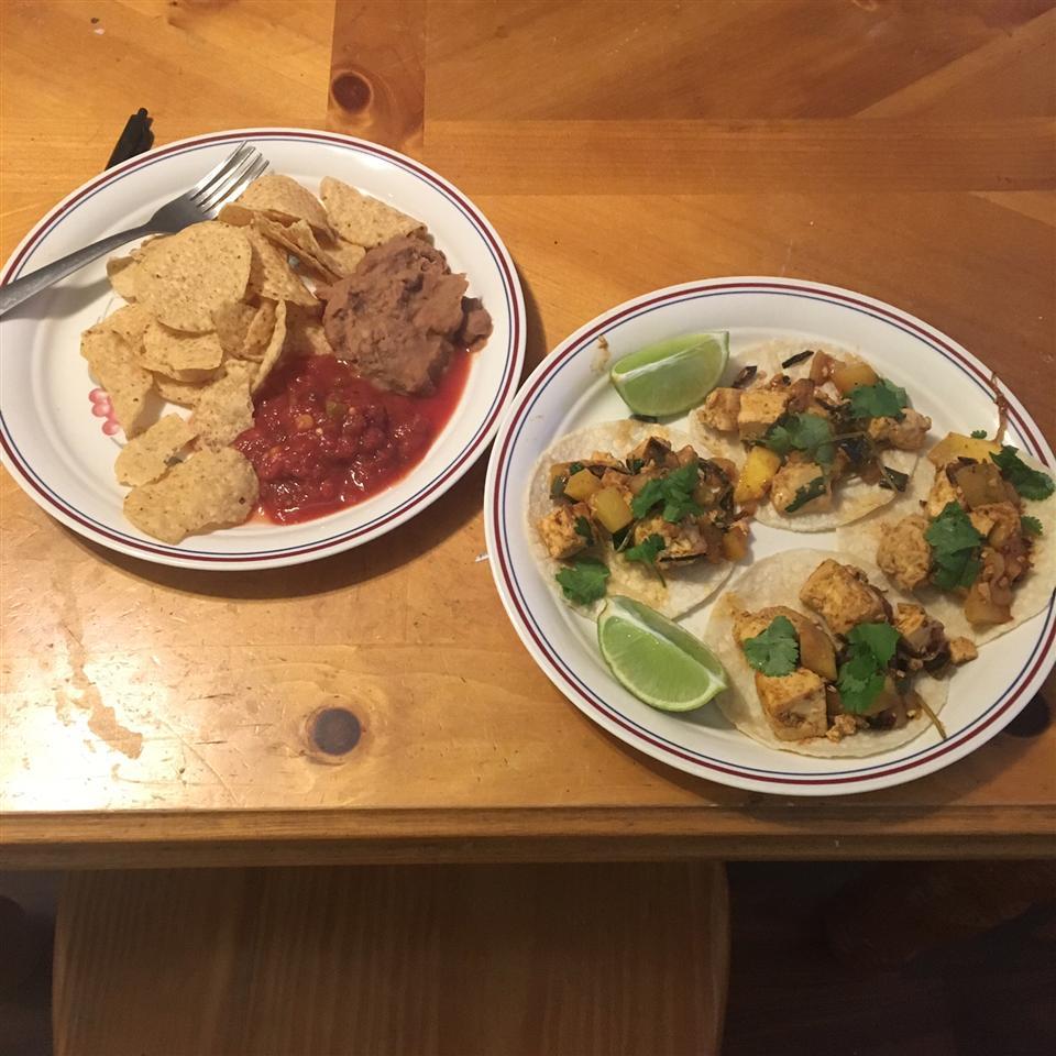 Mango Tofu Tacos