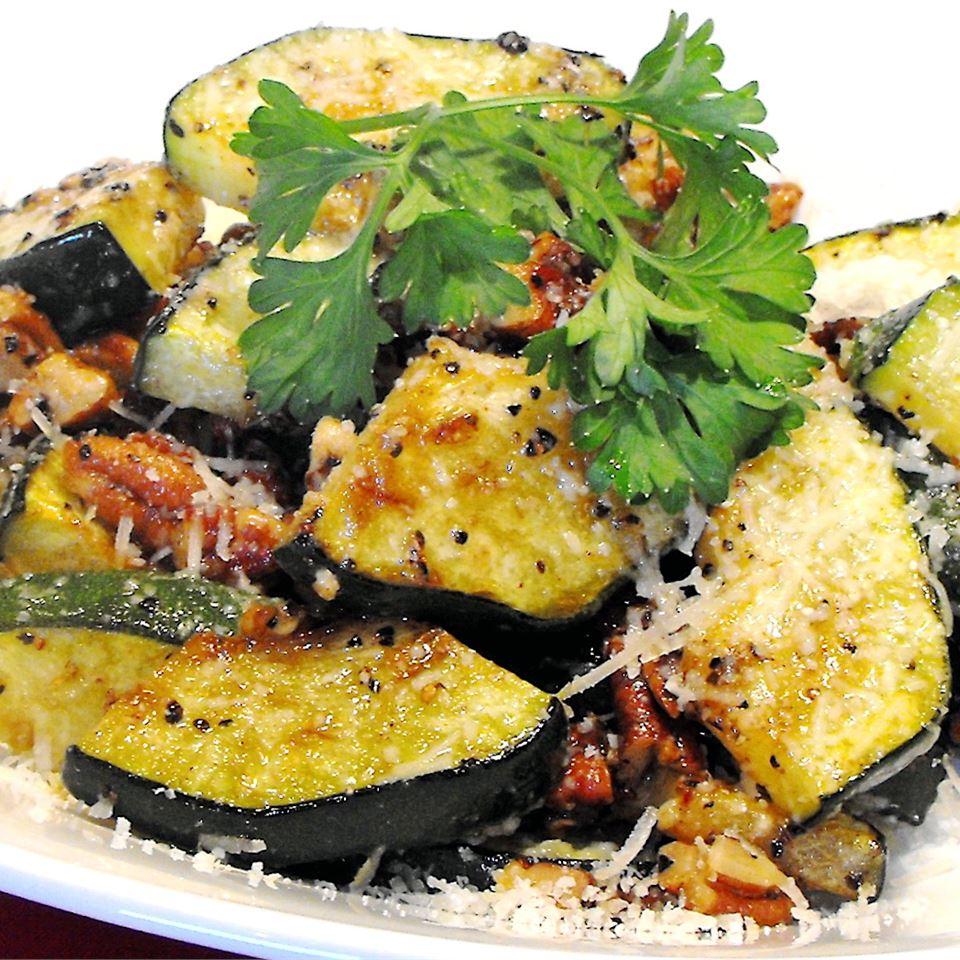 Zucchini and Pecan Saute bellepepper