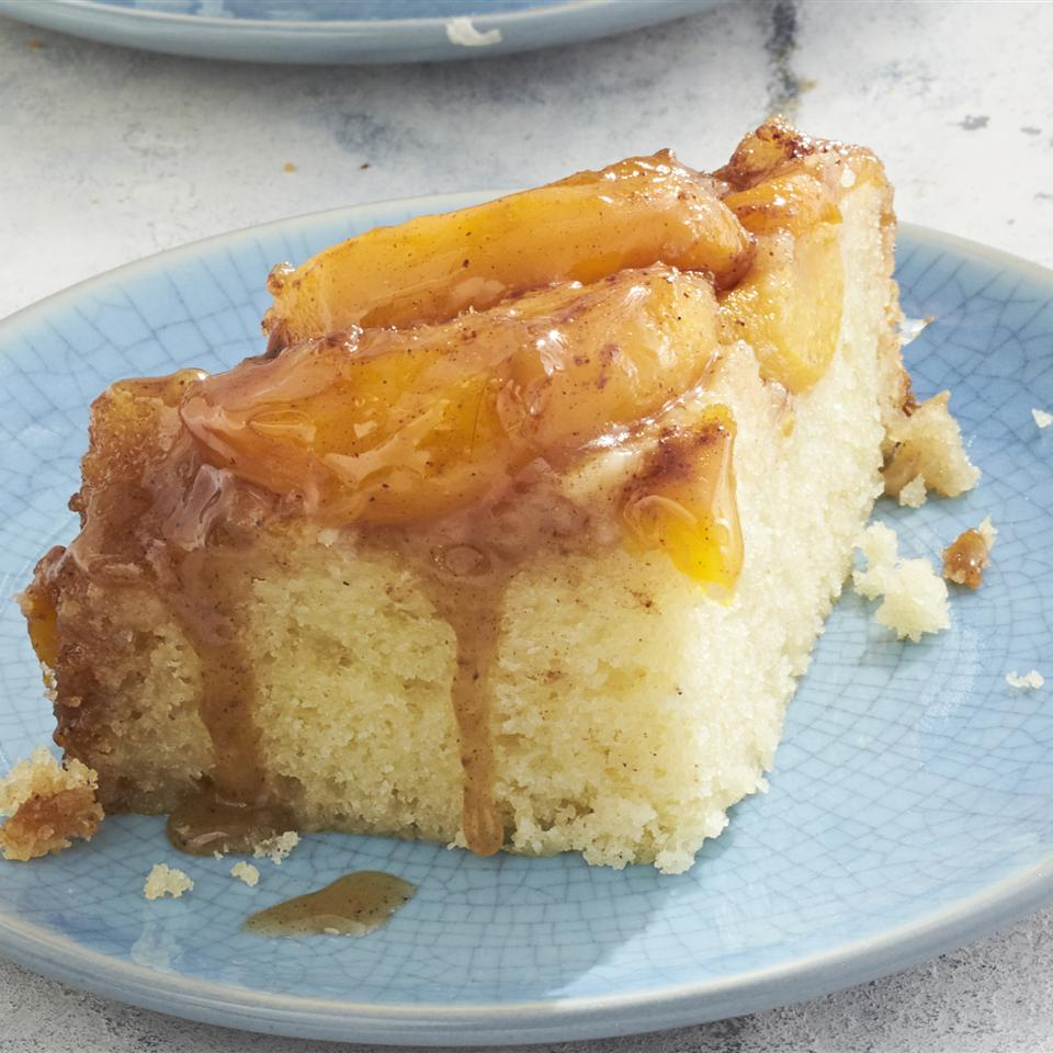 Slow Cooker Peach Upside Down Cake - Printer Friendly