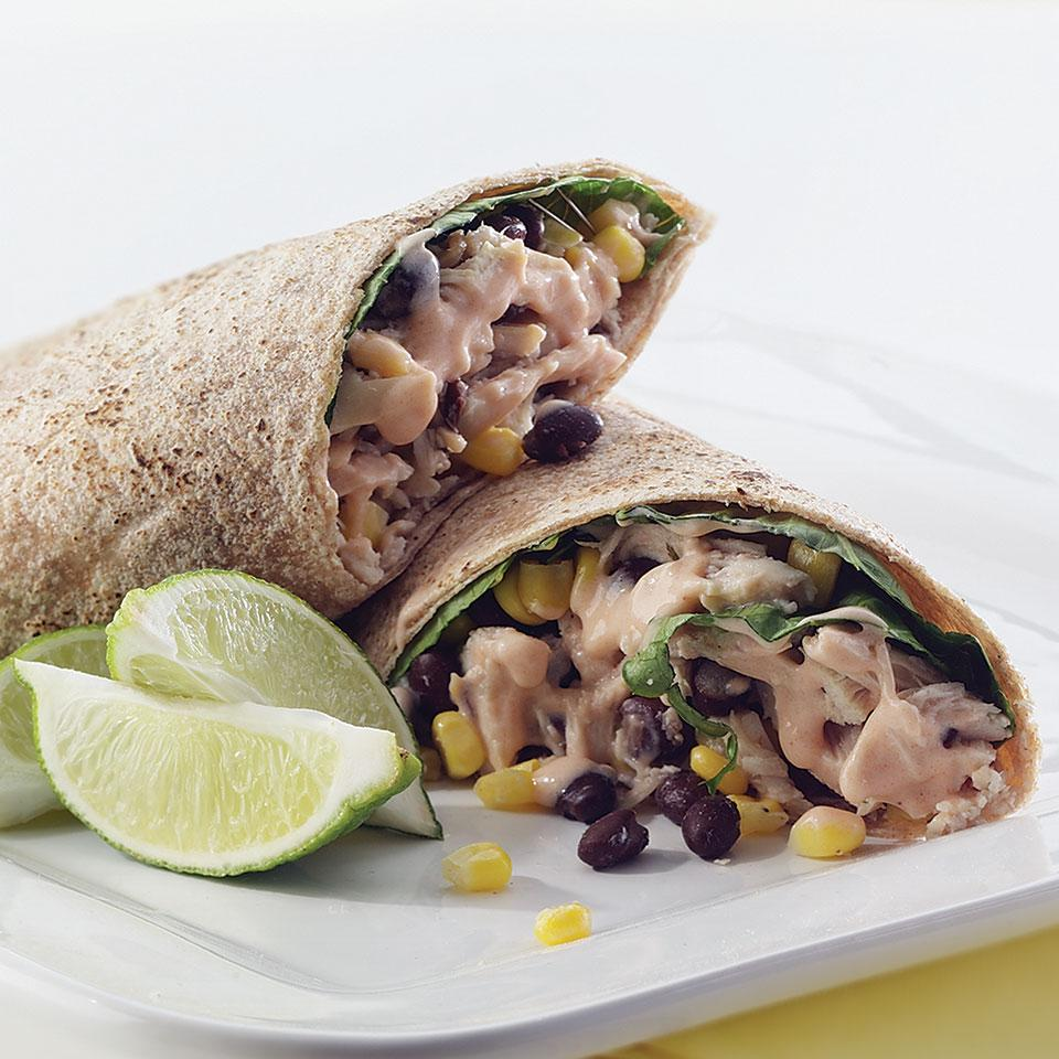 Barbecued Chicken Burritos EatingWell Test Kitchen