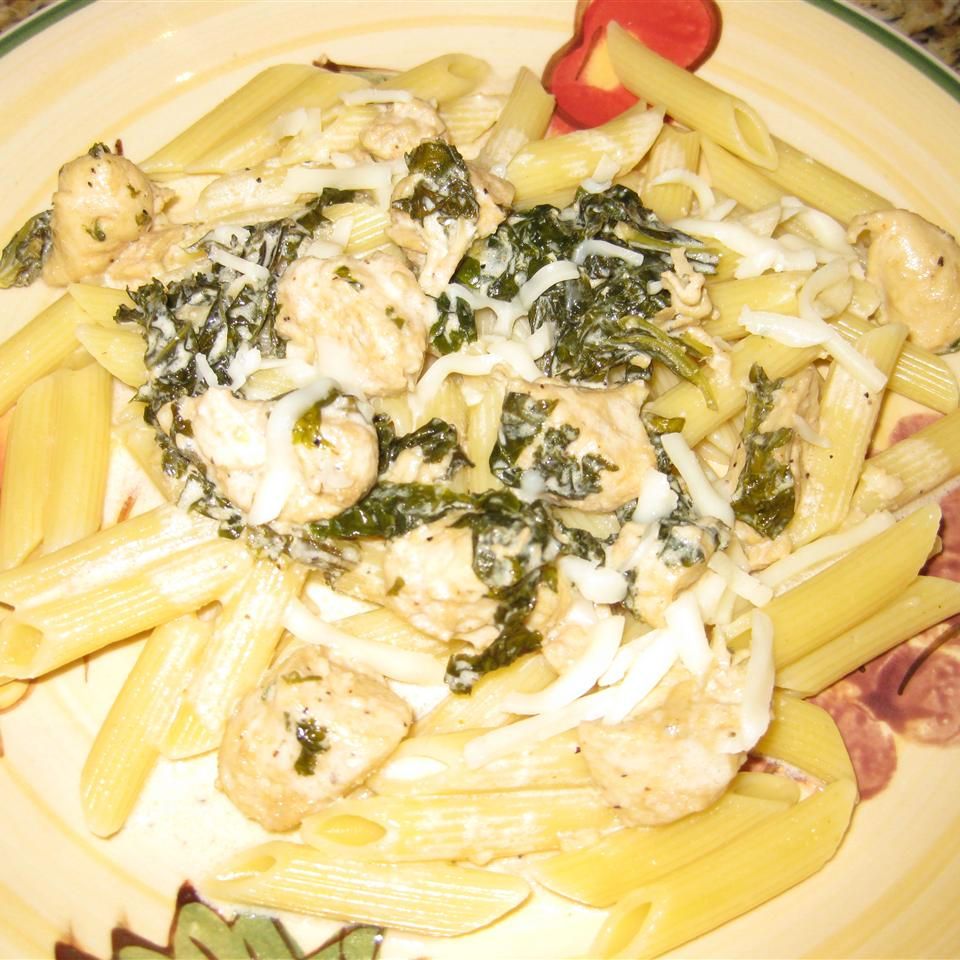 Chicken and Kale in Parmesan Cream Sauce Peter Jozsa