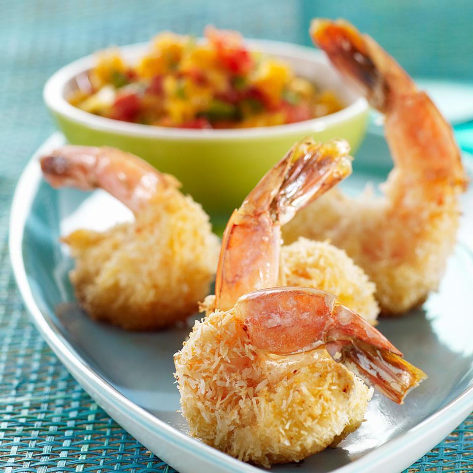 Baked Coconut Shrimp with Tangelo Salsa Katie Webster
