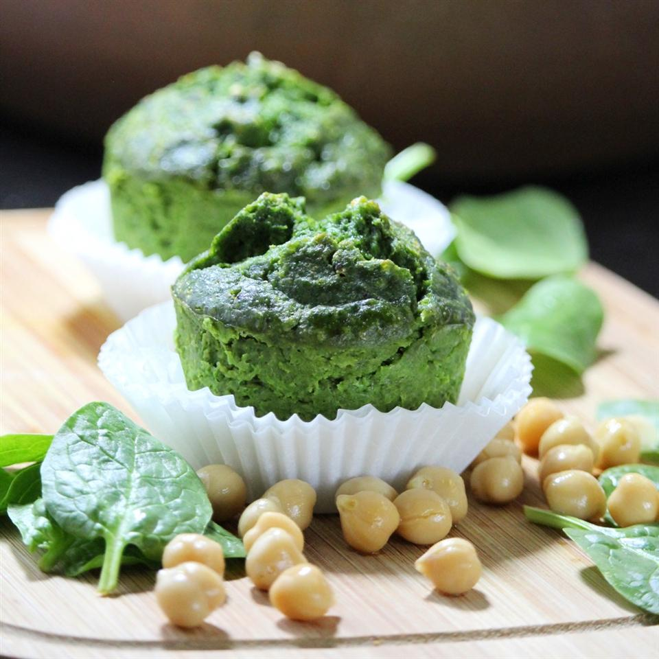 Breakfast Chickpea Spinach Muffins - Printer Friendly