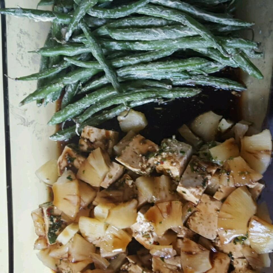 Teriyaki Tofu with Pineapple