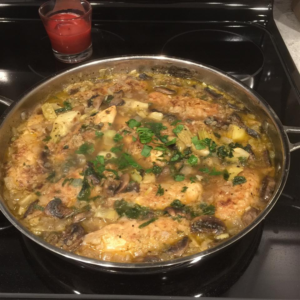 Chicken Piccata with Artichoke Hearts Lamia